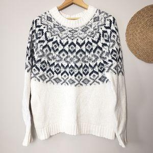 Fair Isle Pullover Sweater XL
